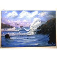 stürmisches Meer Ölbild