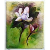 Magnolien Ölbild