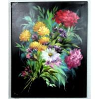 Blumenstrauß Ölbild