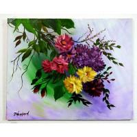 Blumenranken Ölbild