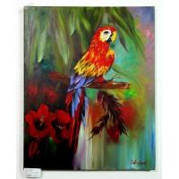 Papagei Ölbild
