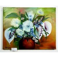 Blumen in Vase Ölbild