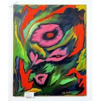 Blumen im Wind Ölbild