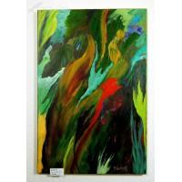 Blätterwald Ölbild