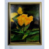 gelbe Rosen Ölbild