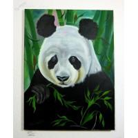Panda Ölbild