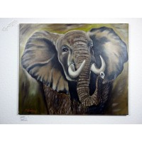 Elefant Ölbild