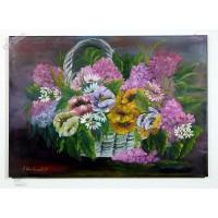 Blumenkorb Ölbild