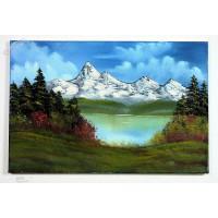 Berg und Seelandschaft Ölbild