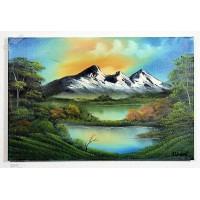 Berglandschaft mit See Ölbild