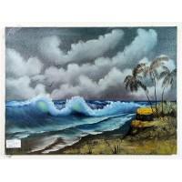 Südseewelle Ölbild