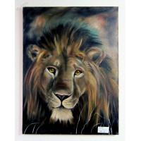 Löwe Ölbild