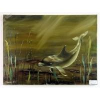 Delphin Ölbild