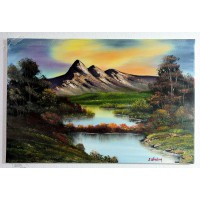 Bergsee Ölbild