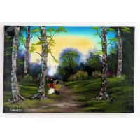 2 Kinder im Wald Ölbild