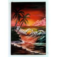 Karibik in der Abenddämmerung Ölbild