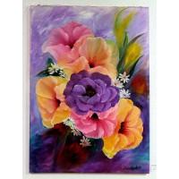 Blumenstauß Ölbild