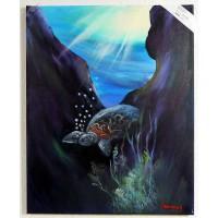 Schilkröte Ölbild
