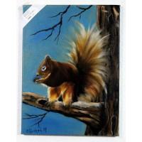 Eichhörnchen Ölbild