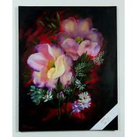 Blumenstrauss Ölbild