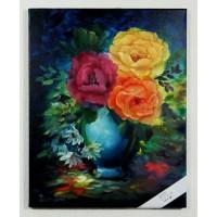 Blumenvase Ölbild