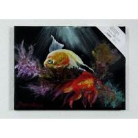 Fische Kleinbild Ölbild