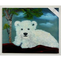 Eisbär Ölbild
