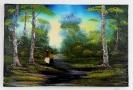 2 Kinder im Wald Bob Ross Ölbild 10379