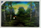 2 Kinder im Wald Bob Ross Ölbild 10428