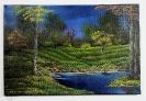 Abendstimmung am Waldsee Bob Ross Ölbild 10265