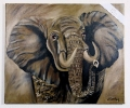 Afrikanischer Elefant Bob Ross Ölbild 10500