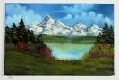 Berg und Seelandschaft Bob Ross Ölbild 10242
