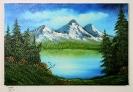 Bergsee Bob Ross Ölbild 10263