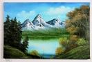 Bergsee Bob Ross Ölbild 10268