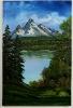Bergsee Bob Ross Ölbild 10270