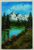 Bergsee Bob Ross Ölbild 10332