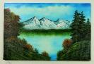 Bergsee Bob Ross Ölbild 10347