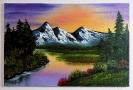 Bergsee Bob Ross Ölbild 10356