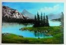 Bergsee Bob Ross Ölbild 10359