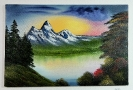 Bergsee Bob Ross Ölbild 10360