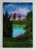 Bergseelandschaft Bob Ross Ölbild 10251