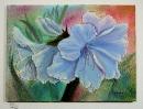 blaue Lilien Bob Ross Ölbild 10201