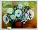 Blumen in Vase Bob Ross Ölbild 10161