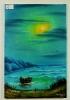 Das Boot Bob Ross Ölbild 10313