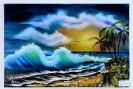Die perfekte Welle Bob Ross Ölbild 10322