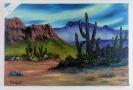 Die Wueste Bob Ross Ölbild 10438