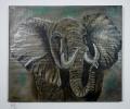Elefant Bob Ross Ölbild 10211