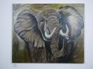 Elefant Bob Ross Ölbild 10218