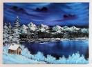 Gebirgssee im Winter Bob Ross Ölbild 10423