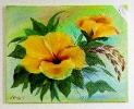gelber Hibiskus Bob Ross Ölbild 10443